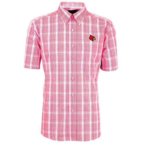 Antigua Men's University of Louisville Alumni Short Sleeve