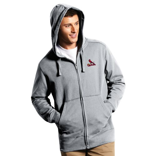 Antigua Men's St. Louis Cardinals Signature Full Zip Hoodie