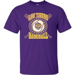 Bayou Apparel Men's Louisiana State University Crossbats T-shirt