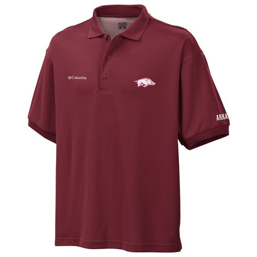 Columbia Sportswear Men's University of Arkansas Perfect Cast™ Polo Shirt - view number 1