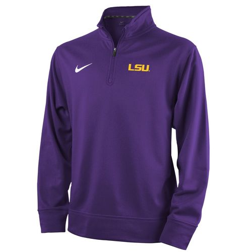 Nike™ Boys' Louisiana State University Sideline Collection Dri-FIT 1/4 Zip Top