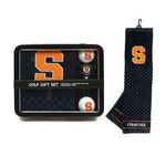 Team Golf Syracuse University Embroidered Towel Tin Gift Set