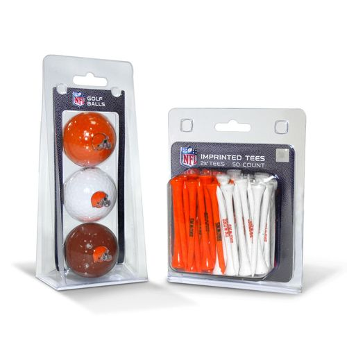 Team Golf Cleveland Browns Golf Balls and Tees Set