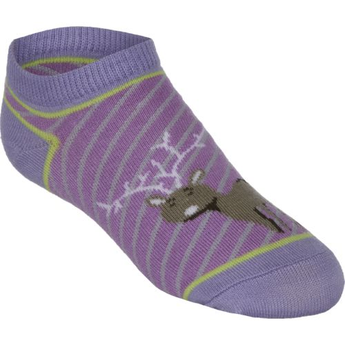 BCG™ Girls' Woodland Creatures No-Show Socks 6-Pack