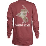 Three Squared Juniors' Florida State University Stockholm Long Sleeve T-shirt