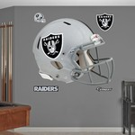 Fathead Oakland Raiders Real Big Helmet Decal - view number 1