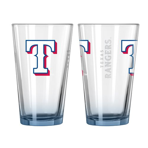 Boelter Brands Texas Rangers Elite 16 oz. Pint Glasses 2-Pack