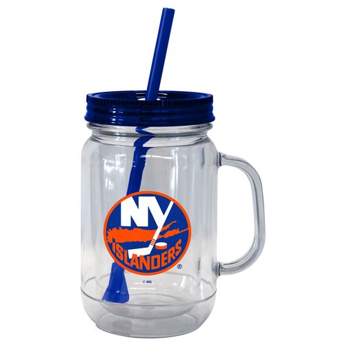 Boelter Brands New York Islanders 20 oz. Handled Straw Tumblers 2-Pack