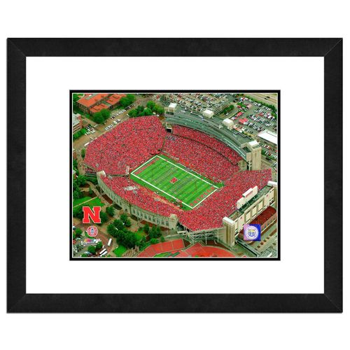 "Photo File University of Nebraska Stadium 16"" x 20"" Matted and Framed Photo"