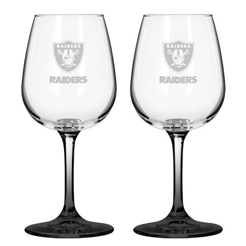 Boelter Brands Oakland Raiders 12 oz. Wine Glasses 2-Pack