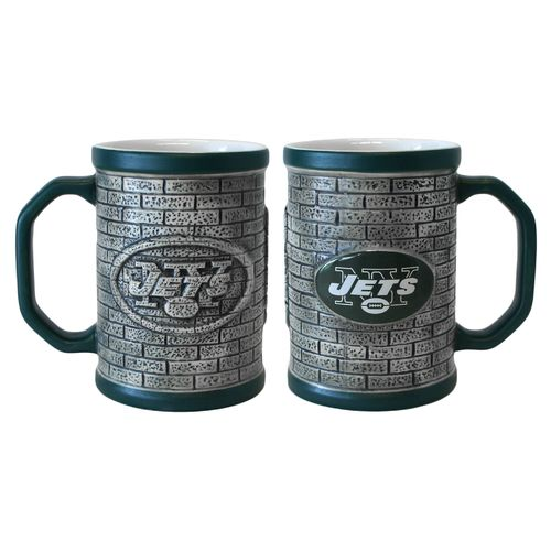 Boelter Brands New York Jets Stone Wall 15 oz. Coffee Mugs 2-Pack