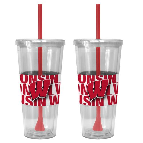 Boelter Brands University of Wisconsin Bold Neo Sleeve 22 oz. Straw Tumblers 2-Pack - view number 1