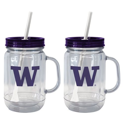 Boelter Brands University of Washington 20 oz. Handled Straw Tumblers 2-Pack