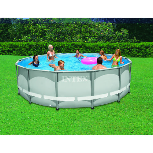intex ultra frame 14 ft x 42 in round pool set with 1 000 gal filter pump academy. Black Bedroom Furniture Sets. Home Design Ideas