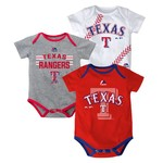 Majestic Infants' Texas Rangers Three Strikes Bodysuit Set