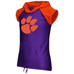 Colosseum Athletics Girls' Clemson University Jewel Short Sleeve Hoodie