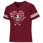 Colosseum Athletics Girls' Florida State University Football Fan T-shirt