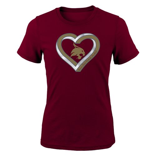 Gen2 Girls' Texas State University Infinite Heart Fashion Fit T-shirt