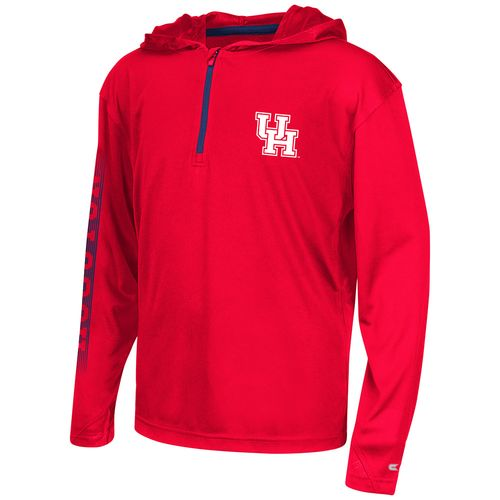 Colosseum Athletics™ Boys' University of Houston Sleet 1/4 Zip Hoodie Windshirt