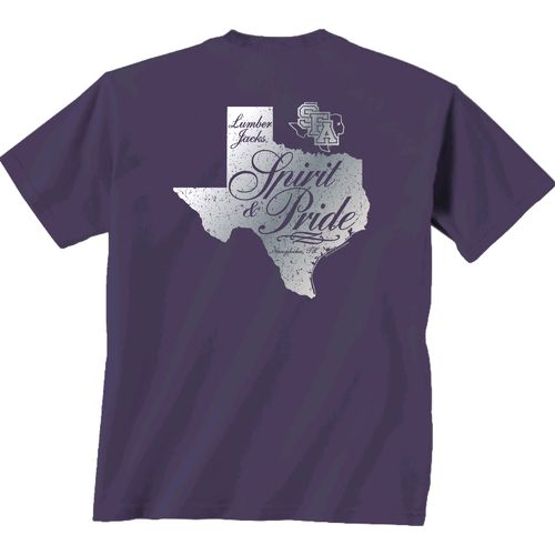 New World Graphics Women's Stephen F. Austin State University Silver State Distress T-shirt