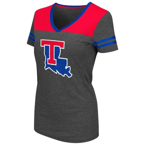 Colosseum Athletics™ Women's Louisiana Tech University Twist V-neck T-shirt