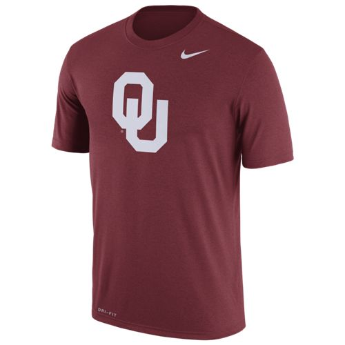 Nike Men's University of Oklahoma Dri-FIT Legend Logo Short Sleeve T-shirt