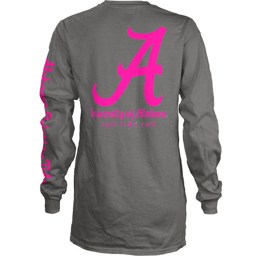 Three Squared Juniors' University of Alabama Cynthia Pocketed Long Sleeve T-shirt