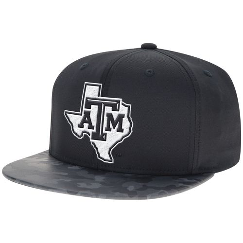 adidas™ Men's Texas A&M University Camo Flat Brim Snapback Hat
