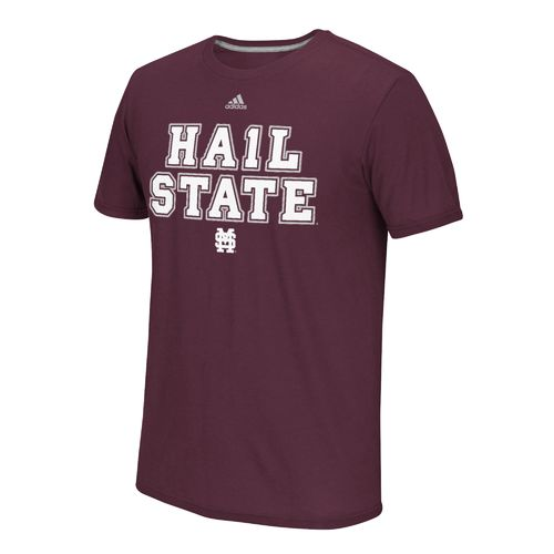 adidas™ Men's Mississippi State University Hail State #1 T-shirt