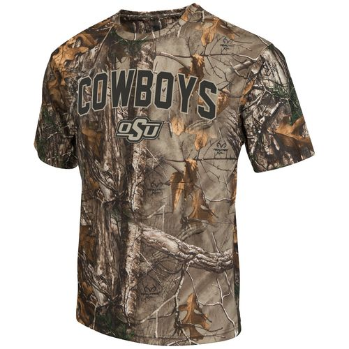 Colosseum Athletics™ Men's Oklahoma State University Camo Brow Tine T-shirt