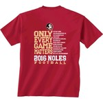 New World Graphics Men's Florida State University Schedule T-shirt