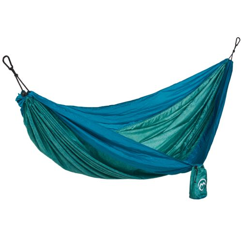 Medium image of magellan outdoors lightweight double nylon hammock with suspension straps   view number 1