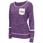 Colosseum Athletics™ Women's Texas Christian University Homies Raw Edge Pocket T-shirt