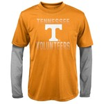 NCAA Boys' University of Tennessee Bleachers Double Layer Long Sleeve T-shirt
