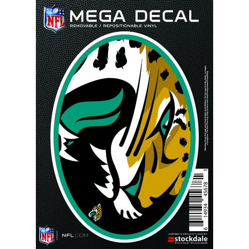"Stockdale Jacksonville Jaguars 5"" x 7"" Repositionable Decal"