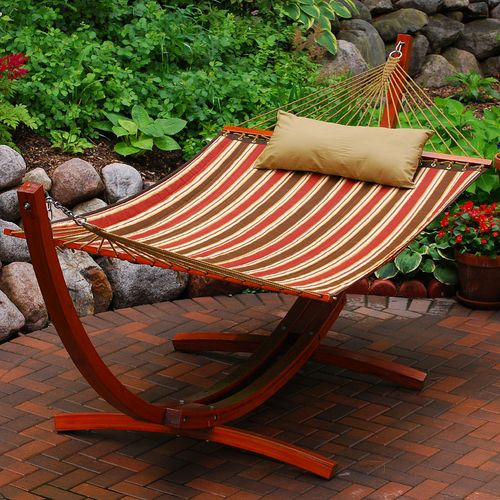 Algoma Arc Frame and Quilted Hammock Set