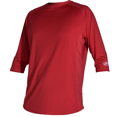 Rawlings Young Men's 3/4 Sleeve Performance Shirt