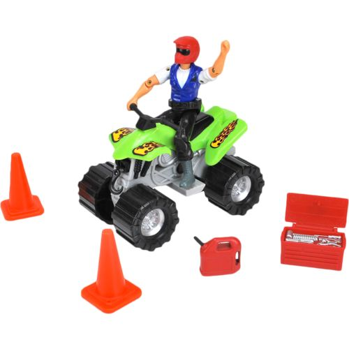 Tree House Kids Imagination Adventure Series Off-Road Quad with Helmet Figure Playset