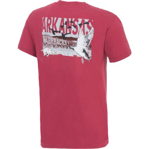 Image One Men's University of Arkansas Duck Flock Comfort Color T-shirt