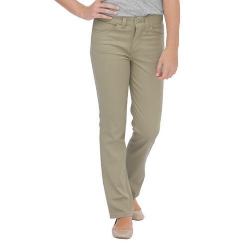 Dickies Girls' Skinny Fit Straight Leg 5 Pocket Stretch Twill Pant