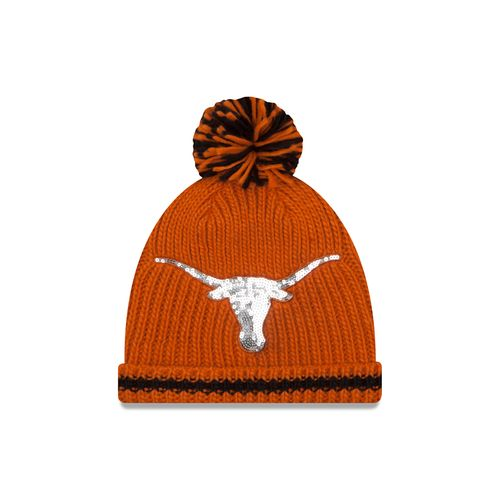 New Era Women's University of Texas Sequin Frost Beanie
