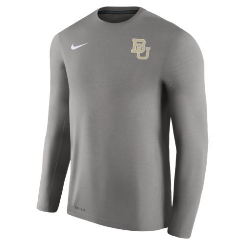 Nike Men's Baylor University Dry Top Coaches Long Sleeve T-shirt