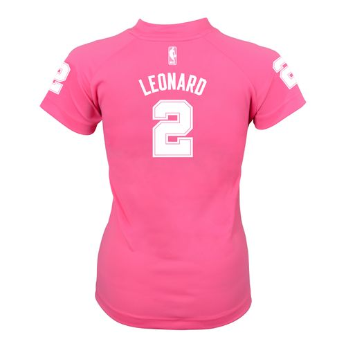 adidas™ Girls' San Antonio Spurs Kawhi Leonard #2 Performance Player T-shirt