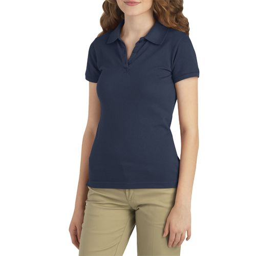 Dickies Girls' Schoolwear Stretch Piqué Knit Polo Shirt