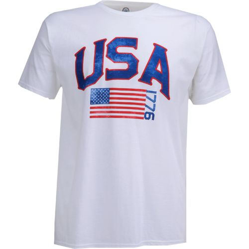 Display product reviews for Academy Sports + Outdoors Men's USA Flag T-shirt