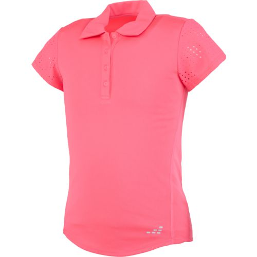 BCG Girls' Laser Cut Training Polo Shirt