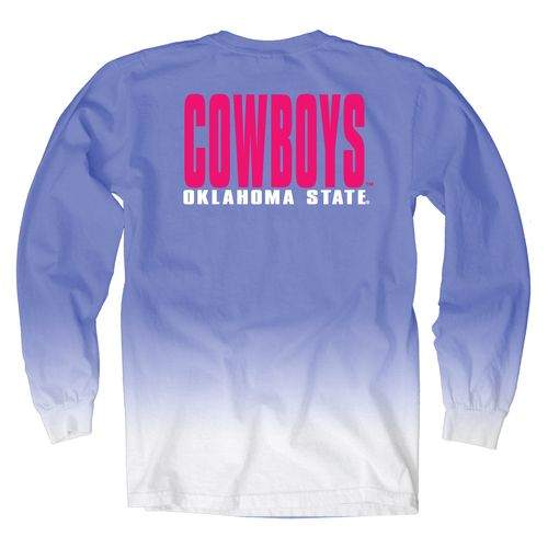 Blue 84 Women's Oklahoma State University Ombré Long Sleeve Shirt