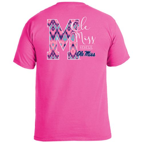 Image One Women's University of Mississippi Ikat Letter Script T-shirt - view number 1