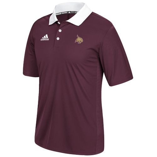 adidas Men's Texas State University Sideline Coaches Polo Shirt