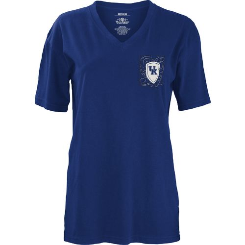 Three Squared Juniors' University of Kentucky Anchor Flourish V-neck T-shirt - view number 2